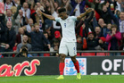 Daniel Sturridge celebrates after scoring a goal for England against Malta this morning (NZT). Photo / AP