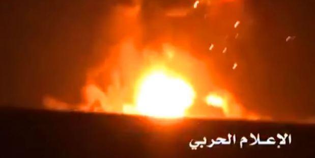 Video showed a fireball engulfing the Swift. Photo / YouTube
