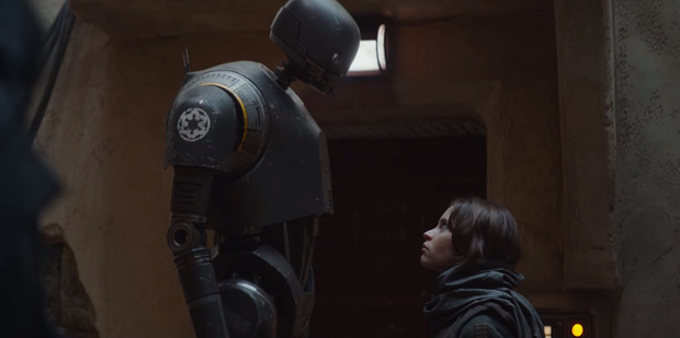 A scene from the upcoming movie, Rogue One: A Star Wars Story.
