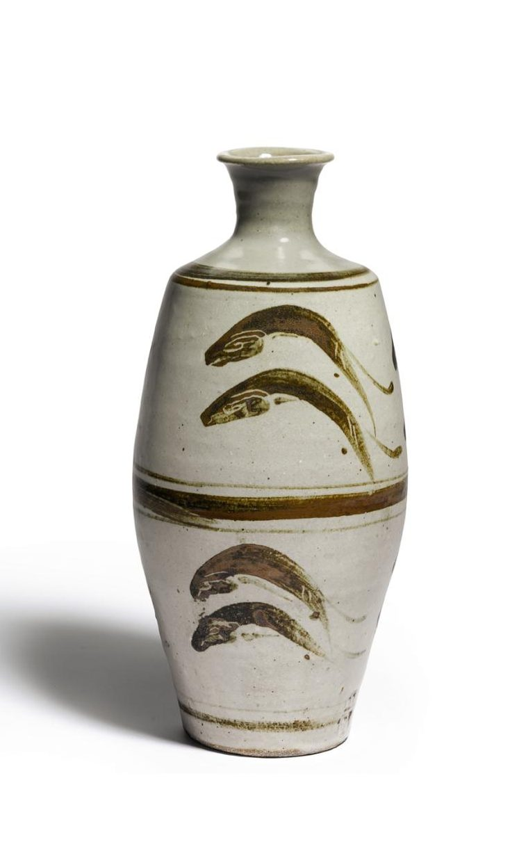 Bernard Leach, Vase with 'Leaping Fish' Design. Photo / Sotheby's