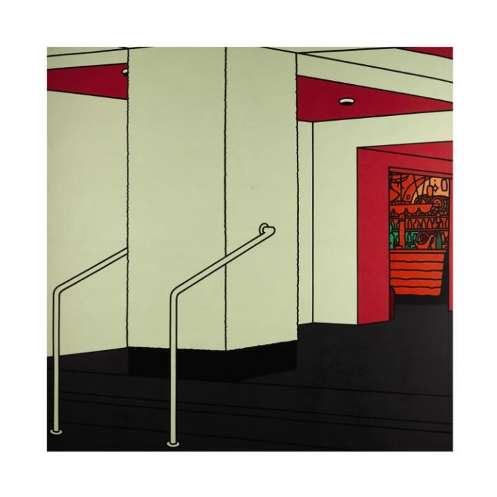 Patrick Caulfield, R.A., C.B.E., Foyer, 1973. Photo / Sotheby's