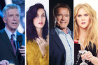 Tom Bergeron, Katy Perry, Arnold Schwarzenegger and Amy Schumer are among the dozens of stars speaking out against Trump