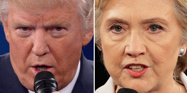 Loading Donald Trump relied on dubious and false claims while Hillary Clinton made some factual 'missteps'. Photo / AP