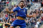 Chelsea's Diego Costa celebrates scoring a goal. Photo / AP