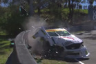 A 17-year-old rookie race car driver could be slapped with a $100,000 bill after his bid to conquer Mount Panorama ended with him slamming into concrete wall. Photo / YouTube.
