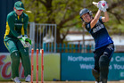 Natalie Dodd of New Zealand is bowled. Photosport