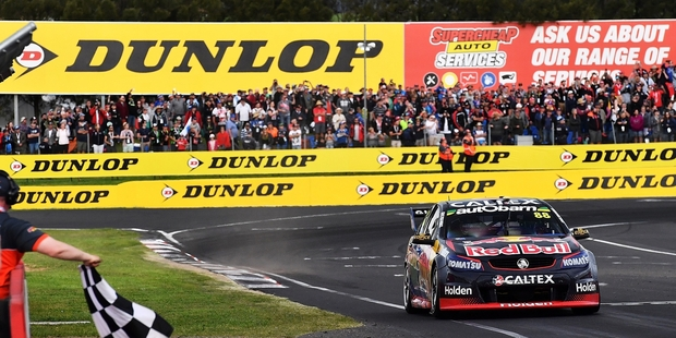 Jamie Whincup was first across the line at Bathurst but a 15-second penalty for an earlier crash pushed him back to 11th. Photo / Getty Images