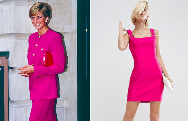 Princess Diana never shied away from bold colours.   Photos / Getty Images, ASOS