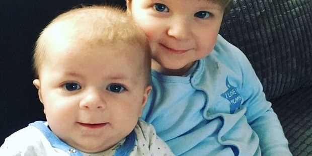 Archie Joe Darby, left, and Daniel-Jay, right, were attacked by a Staffordshire bull terrier. Four month old Archie, was killed and Daniel suffered life changing injuries. Photo / Supplied