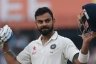 India, led by the first century of the series from captain Virat Kohli, dominated New Zealand on the opening day of the third test at Indore.