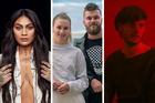 Aaradhna, Broods and Maala are among the front-runners for the VNZMAs. Photos / Nick Reed, Supplied