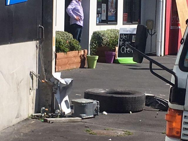 A damaged gas fixture