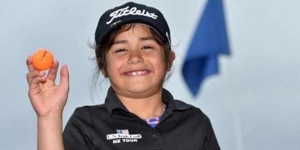Loading Anahera Koni shot a hole-in-one at Island Park Golf Club, Dunedin, on Saturday at the age of 6. Photo / Gregor Richardson