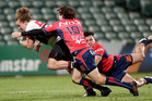 Alex Nankivell of North Harbour is tackled during the round nine Mitre 10 Cup match between North Harbour and Tasman. Photo / Getty