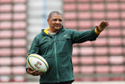 Springboks coach Allister Coetzee is under the microscope following a strong decline in his side's recent performances. Photo / Photosport