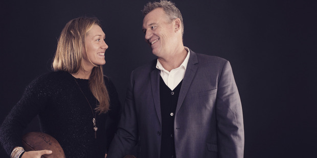 Francesca and Dad John Kirwan. Photo / Supplied