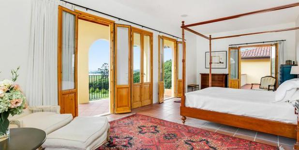 The master bedroom at Clevedon.