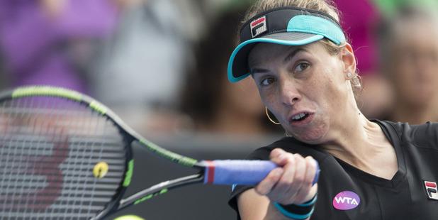 Marina Erakovic lost in straight sets to British player Heather Watson.