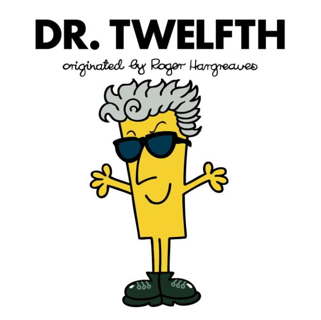 Peter Capaldi's Doctor as a Mr Men character. Photo / BBC