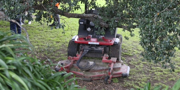 The man is believed to have suffered a heart attack while on a ride-on mower. Photo / John Borren