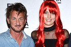 Sean Penn's new girlfriend, Leila George, is 32 years his junior - the same age as his kids. Photo / Getty Images