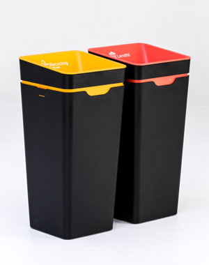 Method Recycling office  bins.