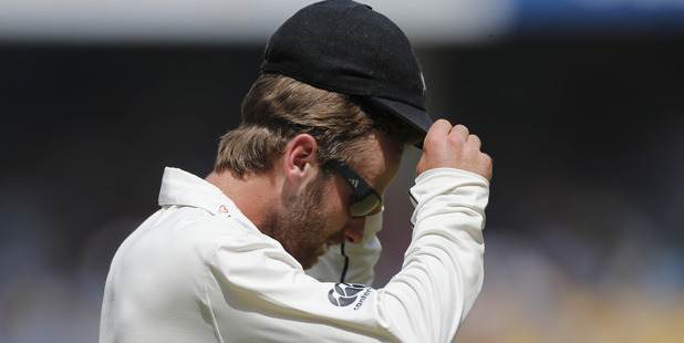 Loading Black Caps skipper Kane Williams during the third test defeat to the Black Caps. Photo / AP