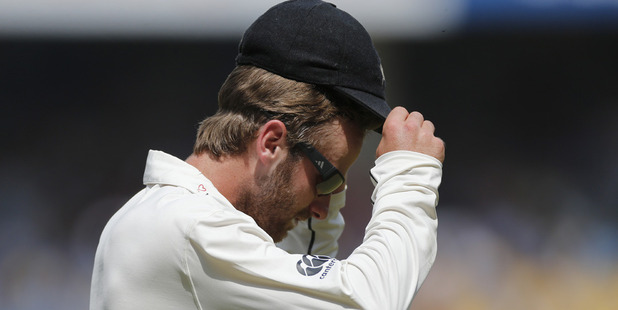 Kane Williamson during the third test defeat to India. Photo / AP