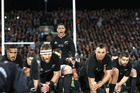Aaron Smith leads a haka ahead of the All Blacks test against South Africa in Christchurch. Photo /Getty