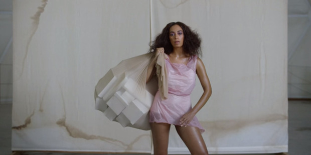 Solange Knowles has her first number one album. Photo / Youtube