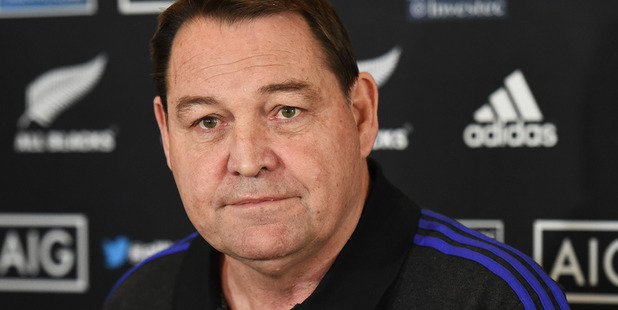 All Blacks coach Steve Hansen during a press conference in Auckland. Photosport