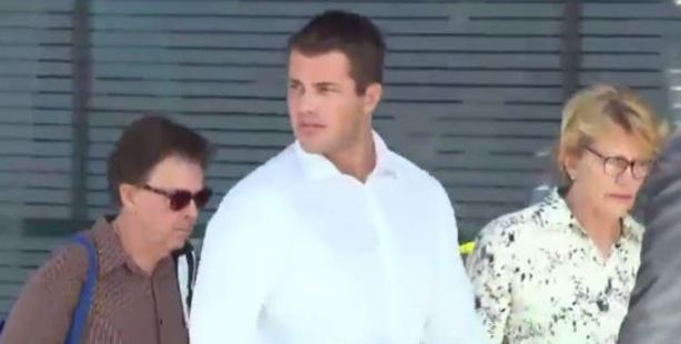 Loading Gable Tostee arrives in court. Photo / via video