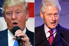 Donald Trump and his allies have indicated he will bring up a variety of claims concerning the sexual behavior of former president Bill Clinton. Photo / AP