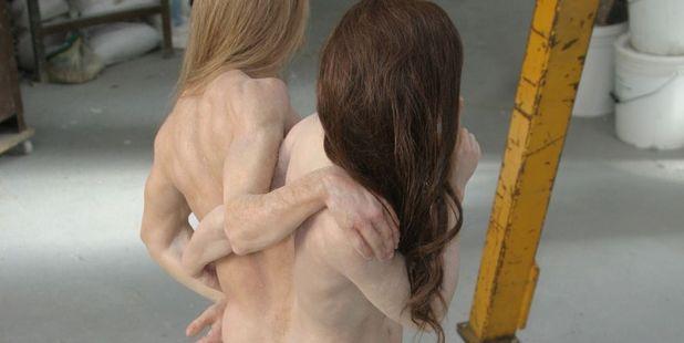 Brangelina memorial nude waxwork sculpture. Photo / eBay
