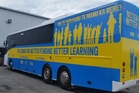 The Better Funding campaign bus will be visiting schools in the Waikato and the Bay of Plenty from October 25 to 28 to provide information about the changes.