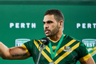 Greg Inglis speaks as man of the match following the Kangaroos' 26-6 win over the Kiwis in Perth last night. Photo / Photosport
