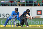 Tom Latham has given the Black Caps a glimmer of hope after they were dismantled by India last night. Photo / Photosport