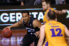 Mika Vukona played his 300th game for the Breakers against the Sydney Kings. Photo / photosport.nz