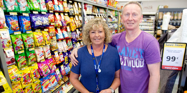 Julie and Tony Bruce in Super Value, Pyes Pa. Photo/Ruth Keber