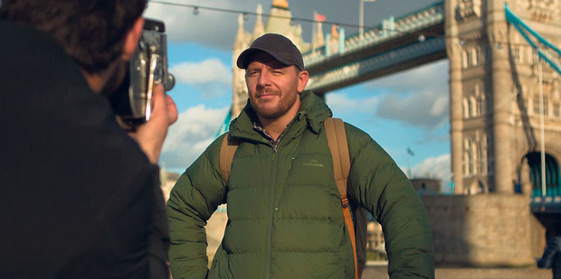 Tower Bridge provides the backdrop while filming in London.