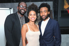 Atlanta, starring  Brian Tyree Henry (left), Zazie Beetz and writer-star Donald Glover, is going off in the US — but we can't see it here. Picture / Getty Images