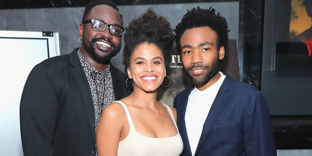 Loading Atlanta, starring  Brian Tyree Henry (left), Zazie Beetz and writer-star Donald Glover, is going off in the US — but we can't see it here. Picture / Getty Images