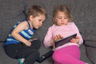 Lizzie Bayliss' children Joe, 3, and Tulsi, 4 enjoy a limited amount of screentime. Photo / Brett Phibbs