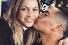 HAPPIER TIMES: Aaron Smith with his girlfriend Teagan Vojkovich