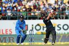 Batsman Doug Bracewell plays a shot. Photo / AFP