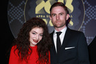 Joel Little with Lorde at the 2015 Apra Silver Scroll Awards. Photo/Norrie Montgomery