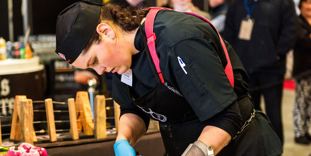 Alana Empson started as a checkout operator and is now officially the world's best young butcher. Photo / Supplied