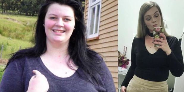Elora is unrecognisable after her dramatic weight loss. Photos / Facebook, The Shrinking Violet