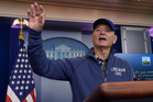 Bill Murray invaded a White House briefing this morning to talk about his beloved Chicago Cubs. Photo / AP
