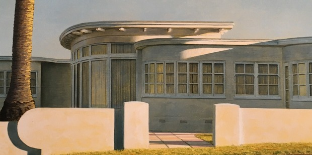 A painting of the beachfront house which once stood at 19 Brett Ave, Takapuna.